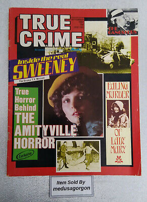 TRUE CRIME Magazine (Sept 1982) Gangsters, The Real Sweeney, Amityville Horror