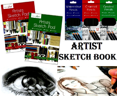 Sketch Pad A3 Book White Paper Artist Sketching Drawing Doodling Art Craft 90gsm