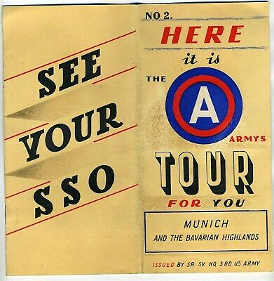 3rd Army 1940's Tour Booklet for Military Personnel Munich & Bavarian Highlands
