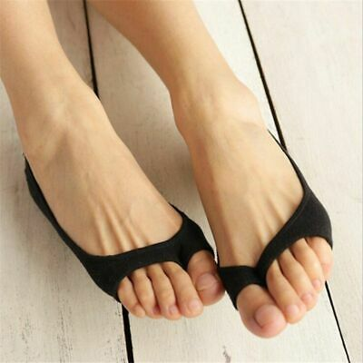 Women Toe Socks 3 Pairs Slippers Invisible Summer Breathable Non-Slip Girls Lady