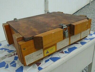 Vintage Military Ordnance Depot Solid Pine Chest Storage Box Craft Hobby Trunk