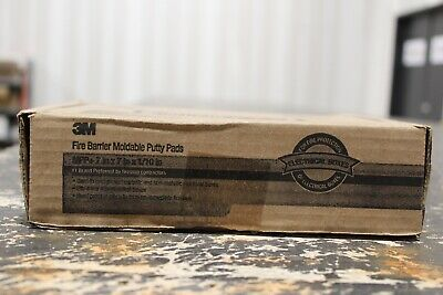 """Box Of 20 3M Fire Barrier Moldable Putty Pads (7"""" X 7"""" X 1/10"""")"""