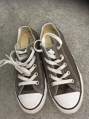 Grey Kids Boys/Girls  Converse UK size 13 Unisex Immaculate Worn Once