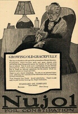 Nujol Constipation Standard Oil Apothecary Quack Medicine? 1917 Advertisement