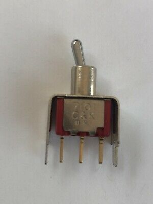 5A SPDT Toggle Switch On-On Latching PCB Right Angle C&K 7101