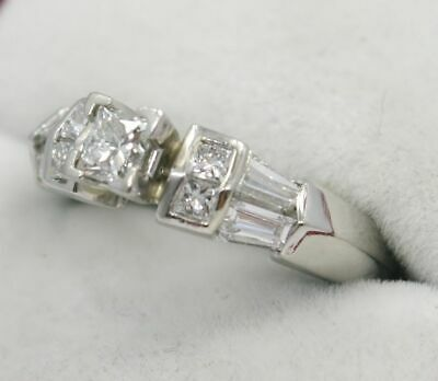 Ladies ~ PLATINUM 1+ Carat Princess Cut ** DIAMOND ** Engagement Ring