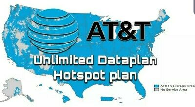 $60/Month - AT&T Unlimited Data Sim for Hotspots, Tablets, Routers
