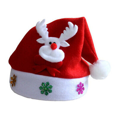 Children Kids Baby Boys Girls Santa Claus Hat Christmas Xmas Party Costume Gifts