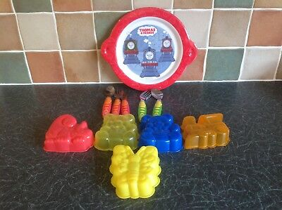 Children's Cutlery & Plate & 5 Jelly Moulds