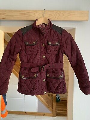NEXT Girls Quilted Belted Jacket Age 9-10 Years