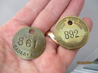 Two Antique Mining Tags/Tokens c1930/50s