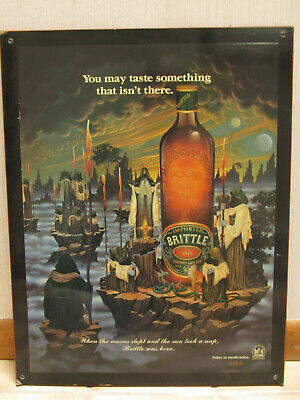 Rare 80s Braldt Bralds A. Millar & Co. Millar's Whiskey Store Display Plaque