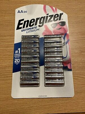 Energizer Ultimate Lithium AA 20 Batteries Extreme Performance Exp 2039
