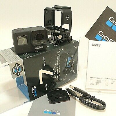 GoPro Hero7 Black 12 MP Waterproof 4k Action Camera Good Condition BIG Bundle