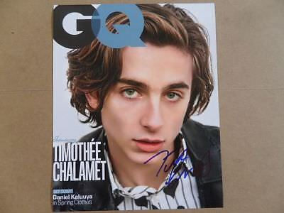 "Timothee Chalamet Signed ~Autographed Photo ""Call Me by Your Name"""