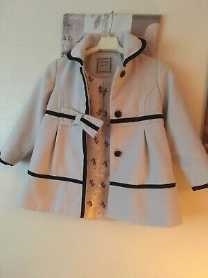 Beautiful Proper Little Girls Next Coat Age 5-6 Years Excellent Condition
