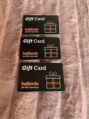 Halfords £45 Worth Of Gift Card (3x£15)