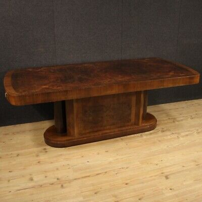 Dining Table Extendible Furniture Wooden Walnut Antique Style Living Room 900
