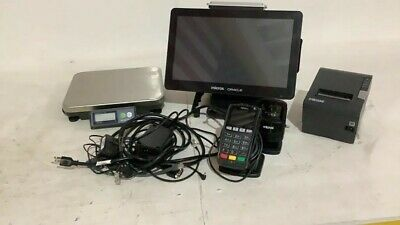 MICROS Oracle Terminal Pos Workstation 6 with printer, scale and scanner