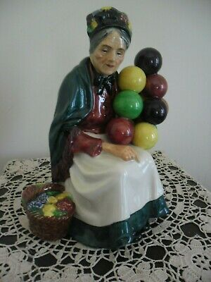 VTG Royal Doulton The Old Balloon Seller Figurine HN 1315 Woman Made in England