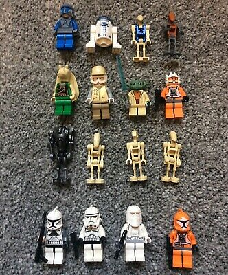 Selection  Of Genuine Lego Star Wars Figures + Weapons