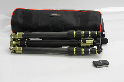 MeFoto C1350 Roadtrip CF Tripod w/Q1 Kit Set C1350Q1 Green                  #715