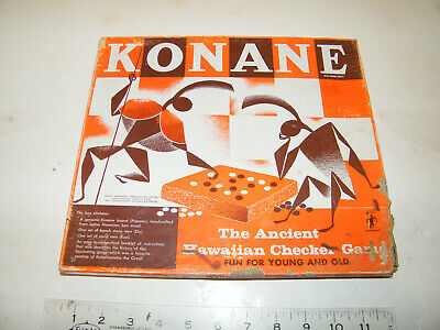 vintage konane  ancient hawaiian checkers game, made in hawaii, koa wood board