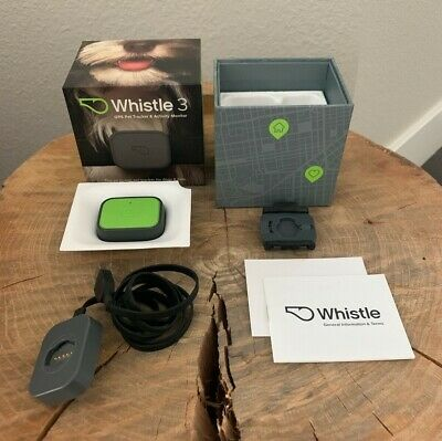 Whistle 3 GPS Pet Tracker & Activity Monitor Green in Original Box W Papers