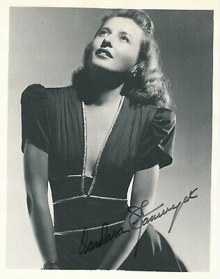 Barbara Stanwyck- Signed Terrific Photograph