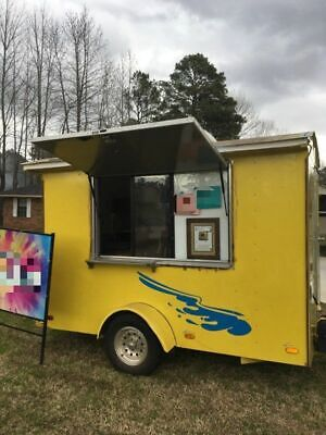 2002 Sno Pro 6' x 10' Barely Used Shaved Ice Concession Trailer/Snowball Stand f