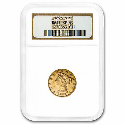 1896-S $5 Liberty Gold Half Eagle XF-40 NGC (Bass Collection) - SKU#213251