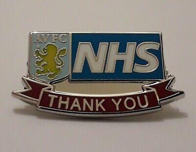 Aston Villa Football Club Badge - Enamel Pin Badges / Memorabilia & NHS Donation