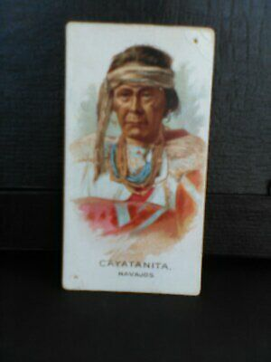 Allen & Ginter N2 Indian Chiefs Cigarette Card - CAYATANITA - NAVAJOS