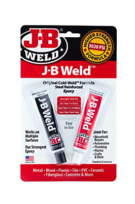 J-B Weld 8265S Original Cold-Weld Steel Reinforced Epoxy - 2 oz to torch welding