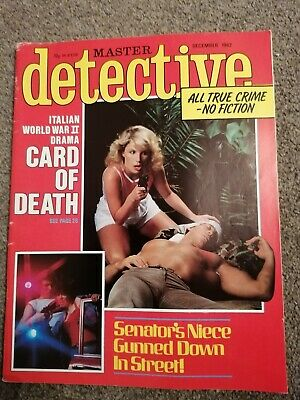 master detective magazine december 1982 good condition for age