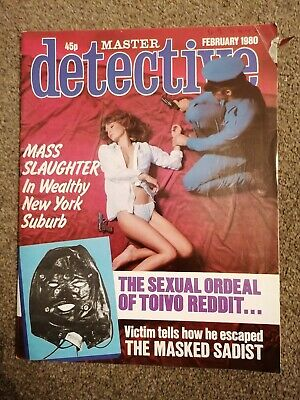 master detective magazine February 1980 good condition for age