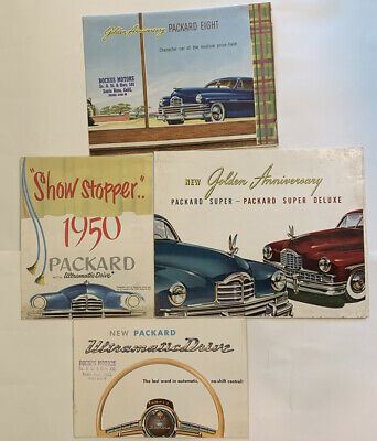 1949 & 1950 Packard Eight, Super Deluxe, And Other Brochure, Poster, Lot Of 4