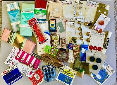 Large Lot of Mixed Vintage Sewing Notions & Supplies