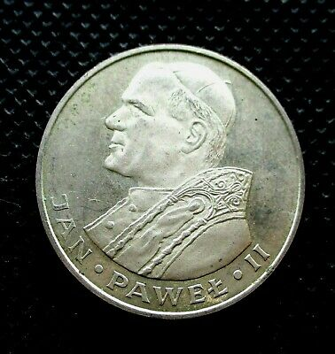 SILVER COMMEMORATIVE 1000 ZLOTY 1982 COIN OF POLAND - POPE JOHN PAUL II Ag (4)