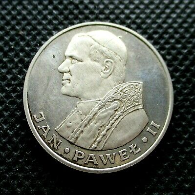 SILVER COMMEMORATIVE 1000 ZLOTY 1982 COIN OF POLAND - POPE JOHN PAUL II Ag (2)
