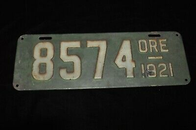 "~Antique ORE License Plate~Metal Sign~1921~Heavy Metal~13"" x 4.5""~OREGON~"