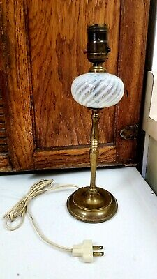 Chase(?) Lamp - Brass and Glass Vintage 1930s Vanity Boudoir Table