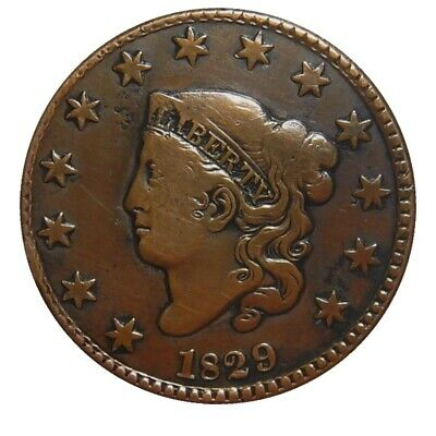 Large cent/penny 1829 RARE medium letters NICE