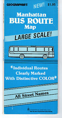 Manhattan Bus Route Map Geographica's 1983 New York City Metro NYC