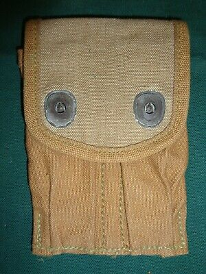 Original Ww1 Us M-1918 Magazine Pouch For M-1911 45 Auto Clips Rare Variation