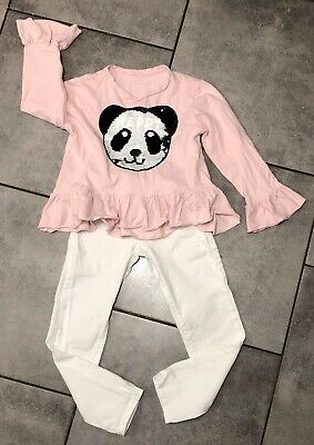 River Island Girls Outfit 8-9 Years (for 128cm) VGC Denim Trousers & Jumper
