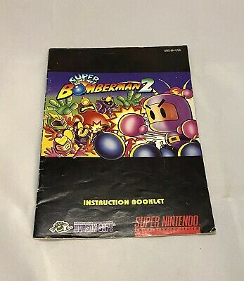Super Bomberman 2 Instruction Booklet Manual ONLY - Super Nintendo SNES