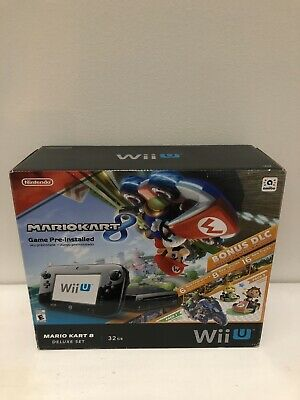 BOX ONLY!! Nintendo Wii U Mario Kart 8 Deluxe Console No Console Great Shape