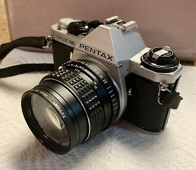 Pentax ME-Super 35mm Film Camera W/50mm M1:1.4 SMC Lens W/Bag-Strap (NEAR MINT)