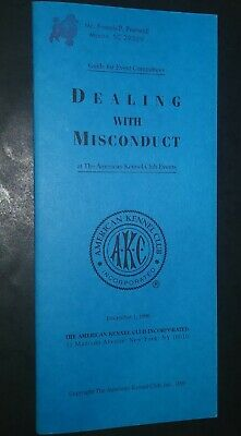 AKC American Kennel Club Booklet Dealing With Misconduct Dec 1996